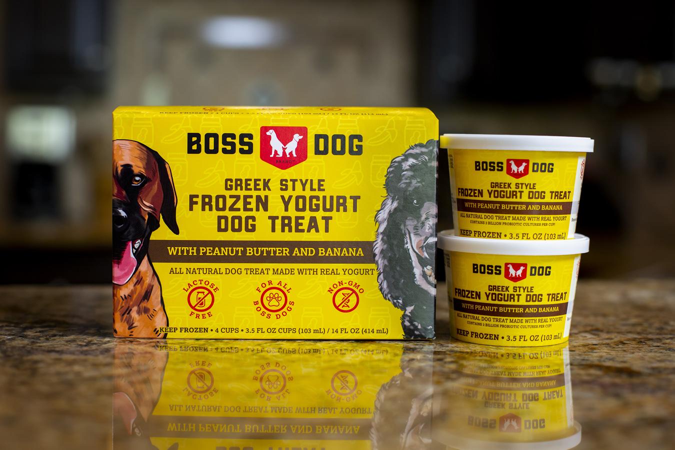 Boss Dog PB & Banana Frozen Yogurt Dog Treats Image