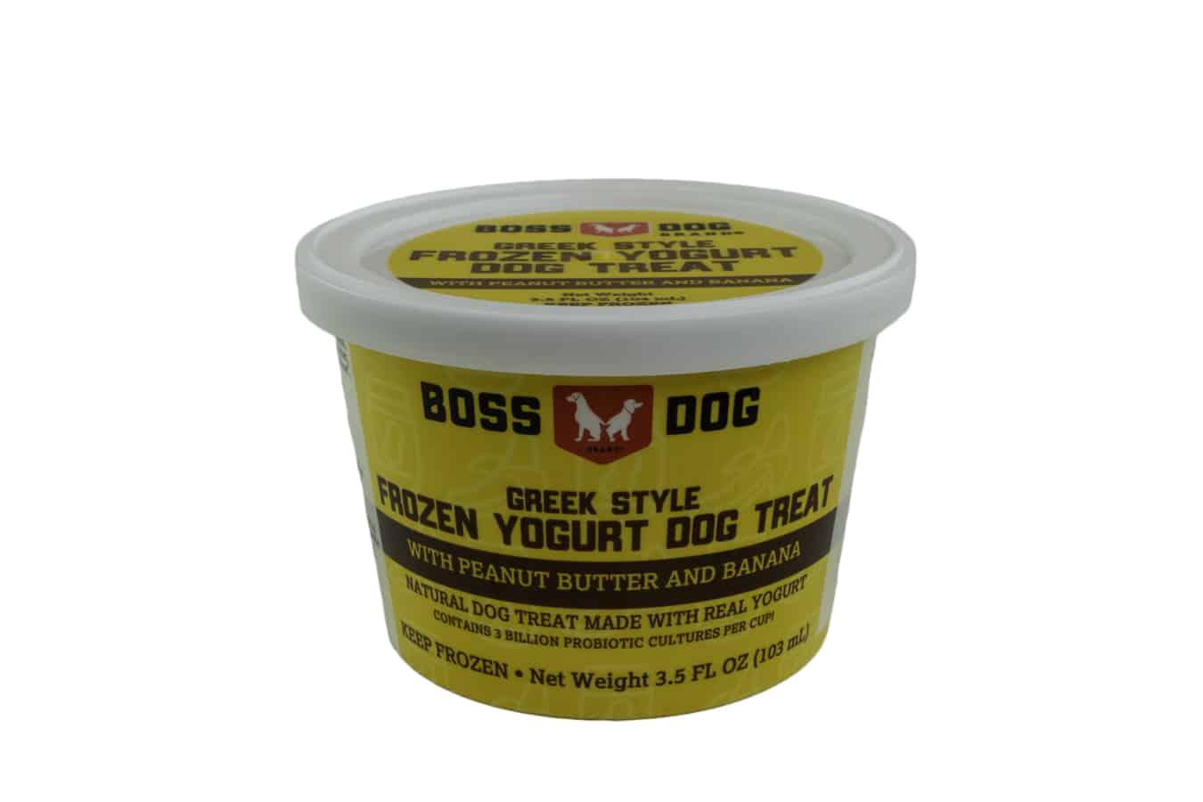 Boss Dog PB & Banana Frozen Yogurt Dog Treats, 3.5-oz, Single Cup Size: 3.5-oz, Single Cup