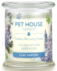 One Fur All Lilac Garden Candle, 8.5-oz