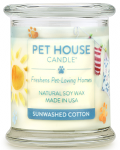 One Fur All Sunwashed Cotton Candle, 8.5-oz