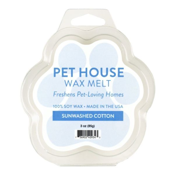 One Fur All Sunwashed Cotton Wax Melts, 3-oz