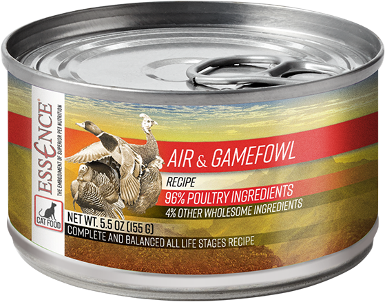 Essence GF Air & Gamefowl Cat Can Wet Food, 5.5-oz