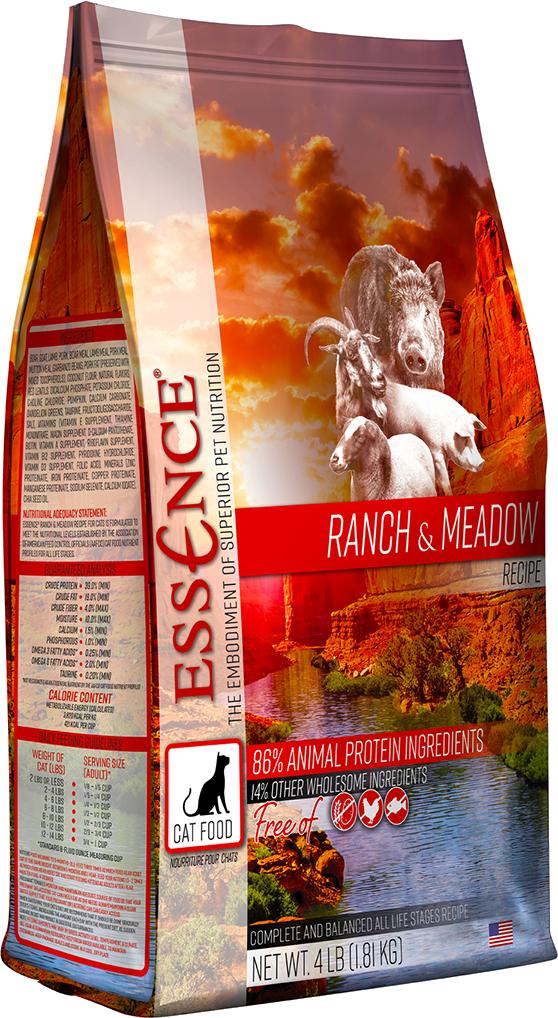 Essence Cat Dry GF Ranch & Meadow Dry Cat Food, 4-lb