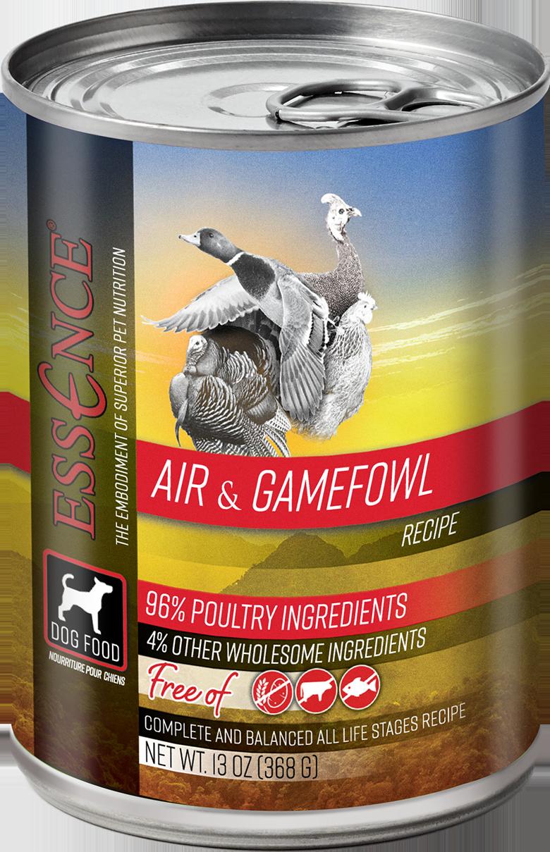 Essence GF Air & Gamefowl Dog Can Wet Food, 13-oz