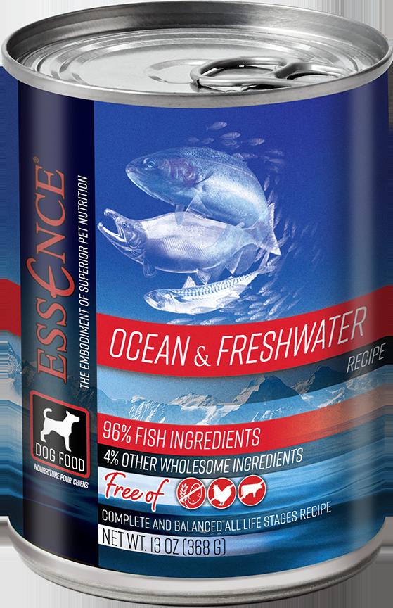 Essence GF Ocean & Freshwater Dog Can Wet Food, 13-oz
