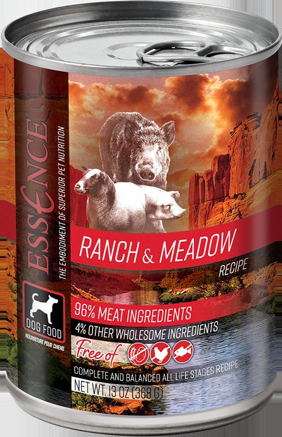 Essence GF Ranch & Meadow Dog Can Wet Food, 13-oz