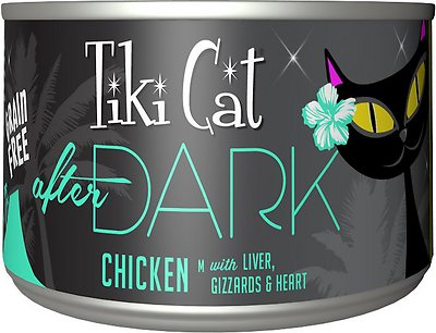 Tiki Cat After Dark Chicken Canned Cat Food, 5.5-oz, case of 8