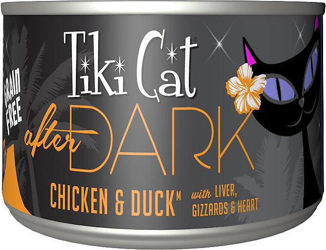 Tiki Cat After Dark Chicken & Duck Canned Cat Food, 2.8-oz