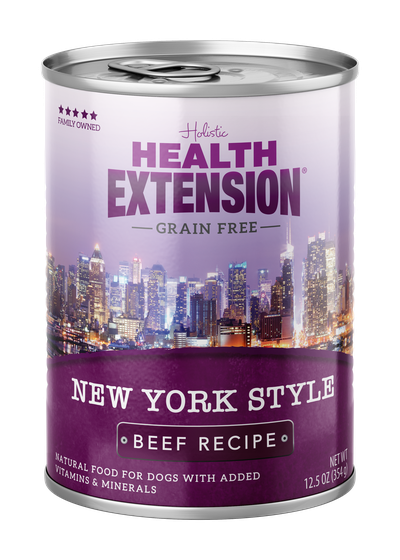 Health Extension Grain Free New York Style Beef Dog Wet Food, 12.5-oz
