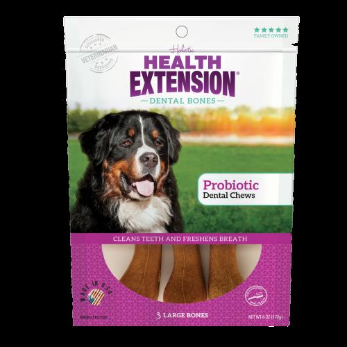 Health Extension Probiotic Yogurt Dental Bones Dog Treats Image