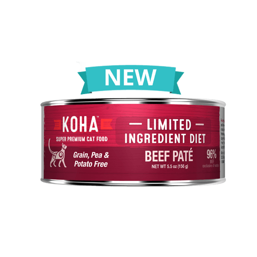 Koha Cat Limited Ingredient Diet Pate Beef Cat Wet Food, 5.5-oz, case of 24