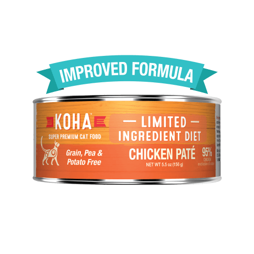 Koha Cat Limited Ingredient Diet Pate Chicken Cat Wet Food, 5.5-oz