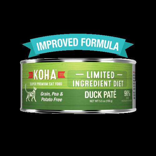 Koha Cat Limited Ingredient Diet Pate Duck Cat Wet Food, 3-oz