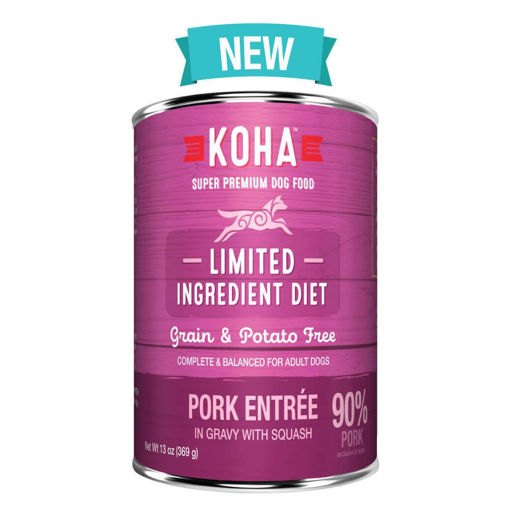 Koha Limited Ingredient Diet Pork Entrée in Gravy with Squash Dog Wet Food, 13-oz