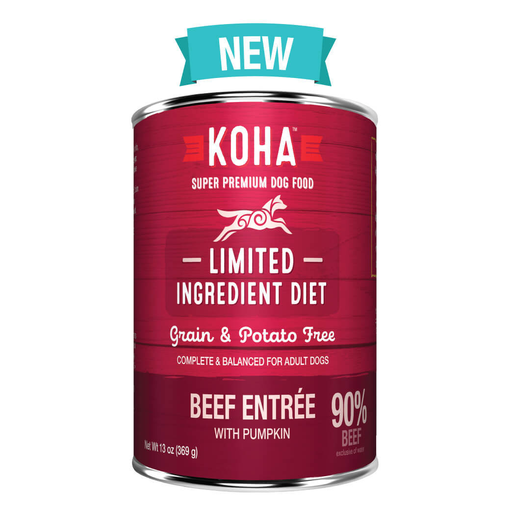 Koha Limited Ingredient Diet Beef Entrée with Pumpkin Dog Wet Food, 13-oz
