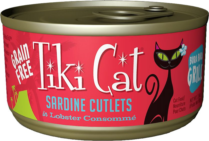 Tiki Cat Bora Bora Grill Sardine Cutlets in Lobster Consomme Grain-Free Canned Cat Food Image