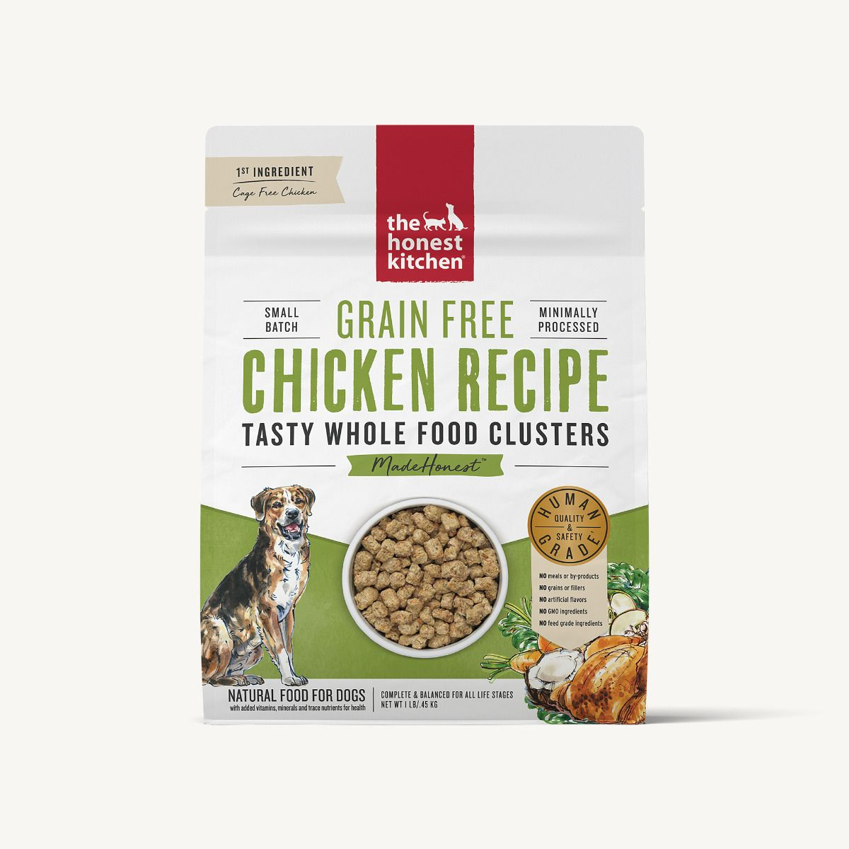 The Honest Kitchen Whole Food Clusters Grain Free Chicken Dog Food, 20-lb