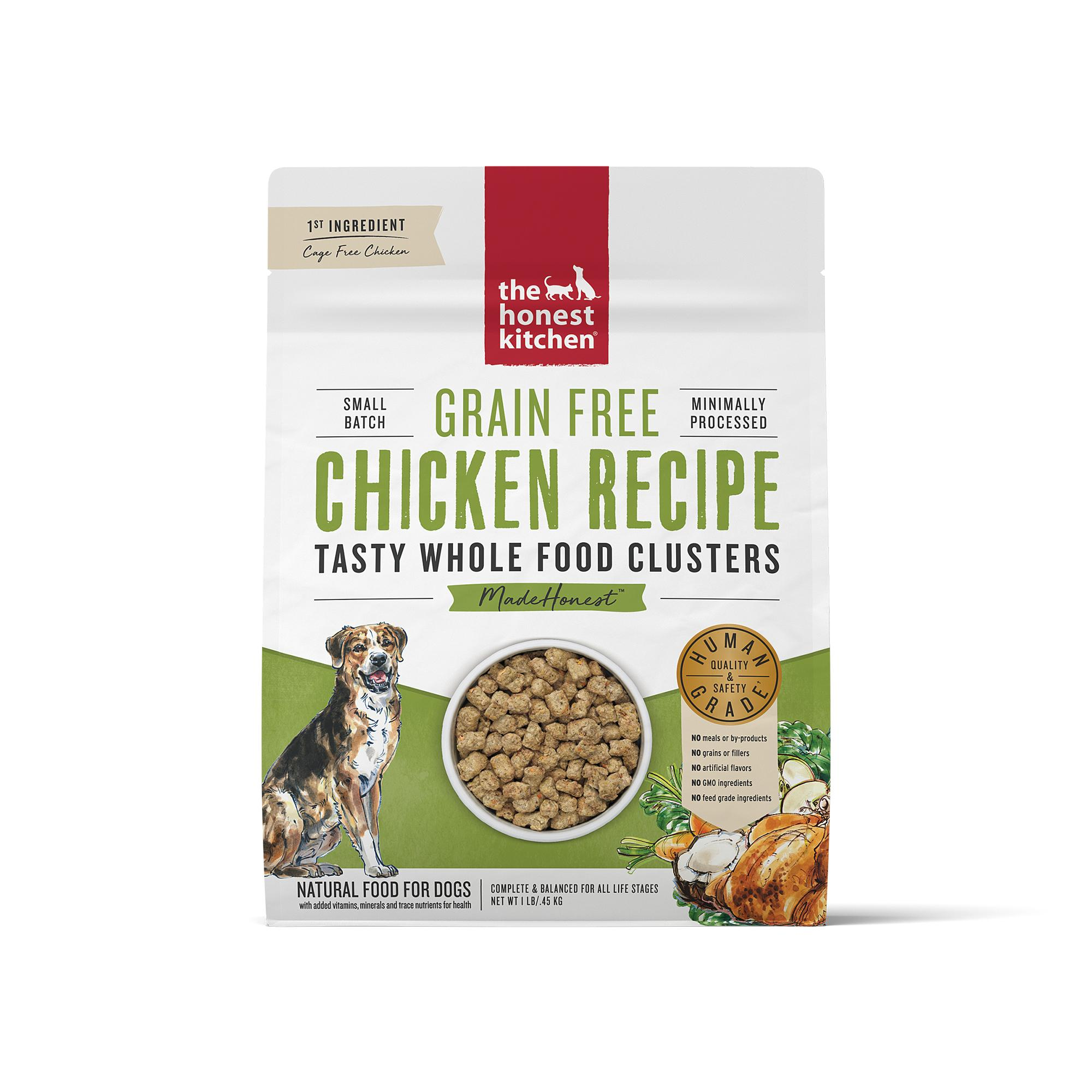 The Honest Kitchen Whole Food Clusters Chicken Grain-Free Dry Dog Food, 1-lb
