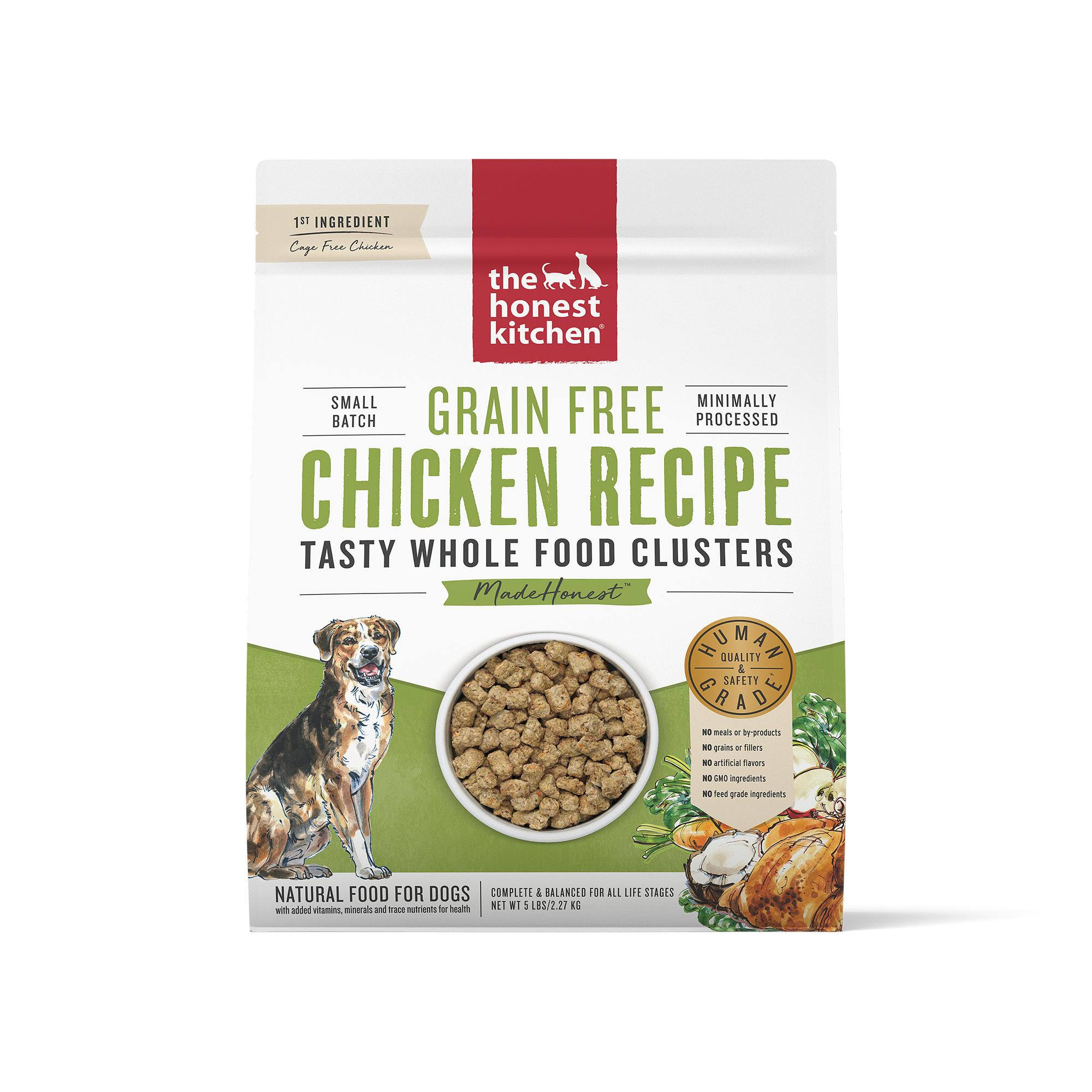 The Honest Kitchen Whole Food Clusters Chicken Grain-Free Dry Dog Food, 5-lb