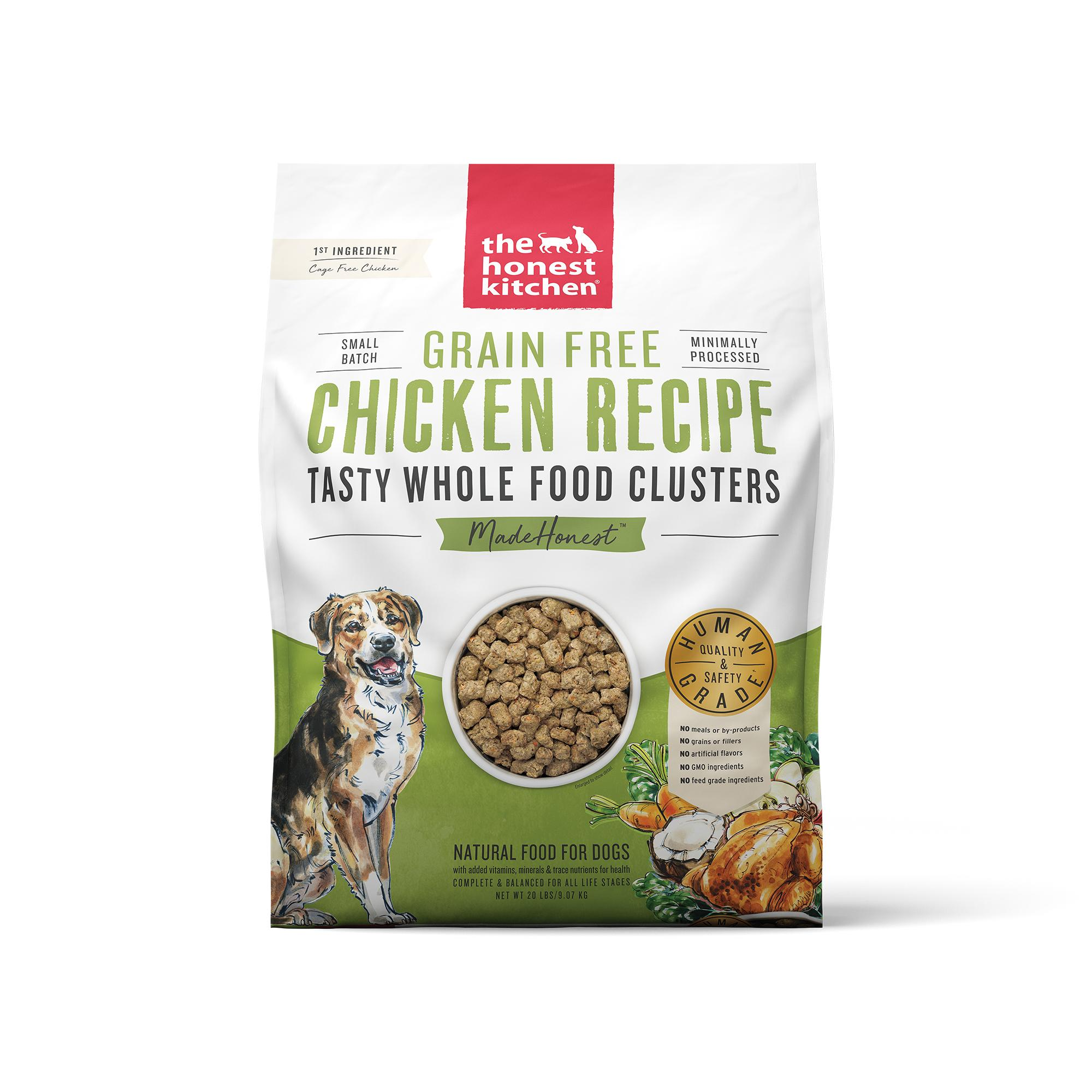 The Honest Kitchen Whole Food Clusters Chicken Grain-Free Dry Dog Food, 20-lb