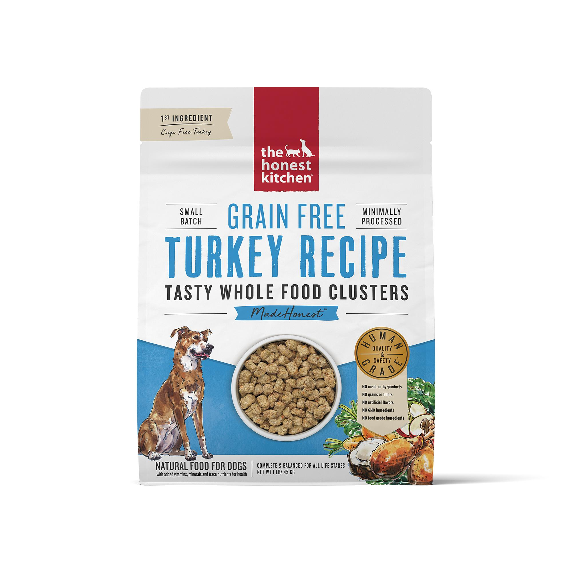 The Honest Kitchen Whole Food Clusters Turkey Grain-Free Dry Dog Food, 1-lb
