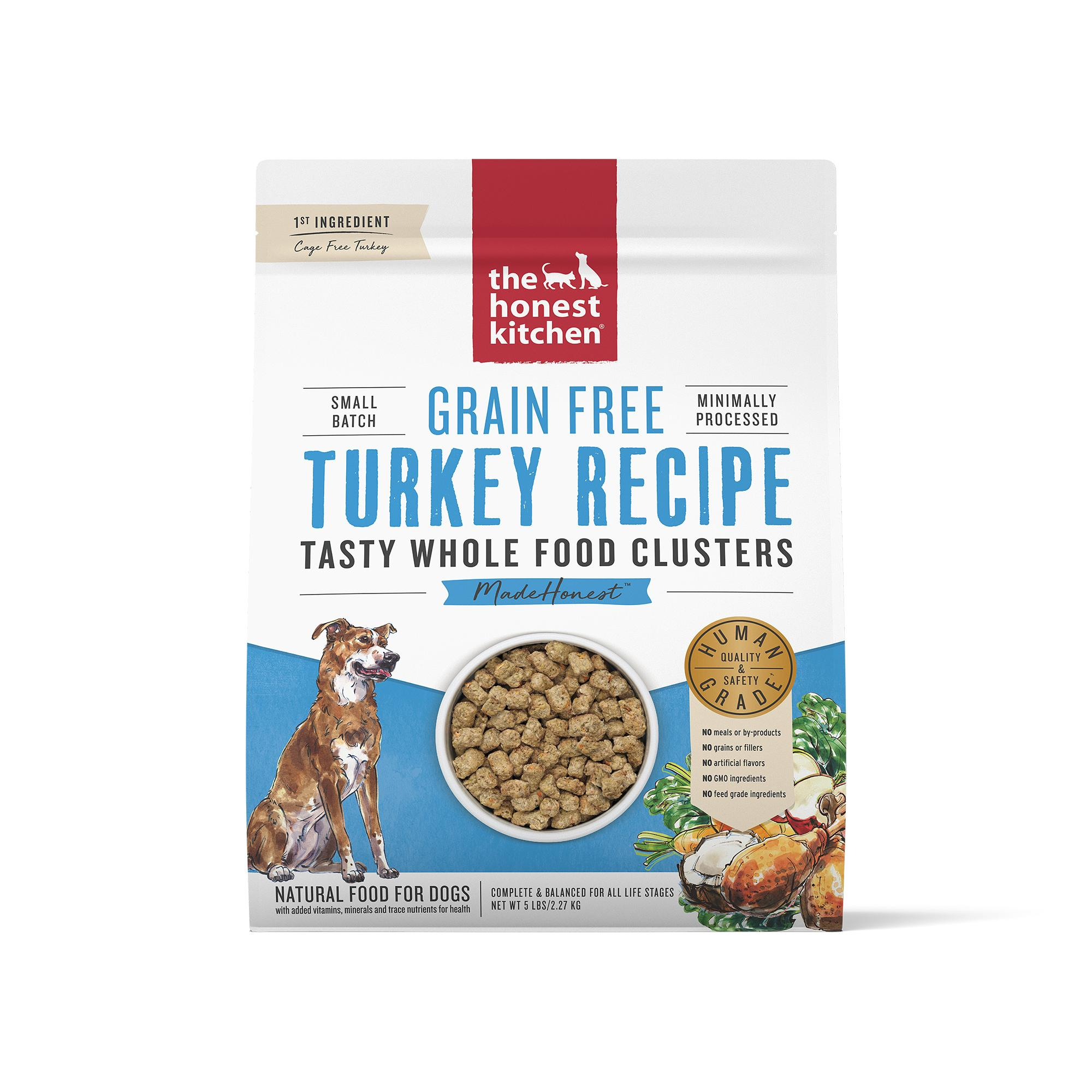 The Honest Kitchen Whole Food Clusters Turkey Grain-Free Dry Dog Food, 5-lb