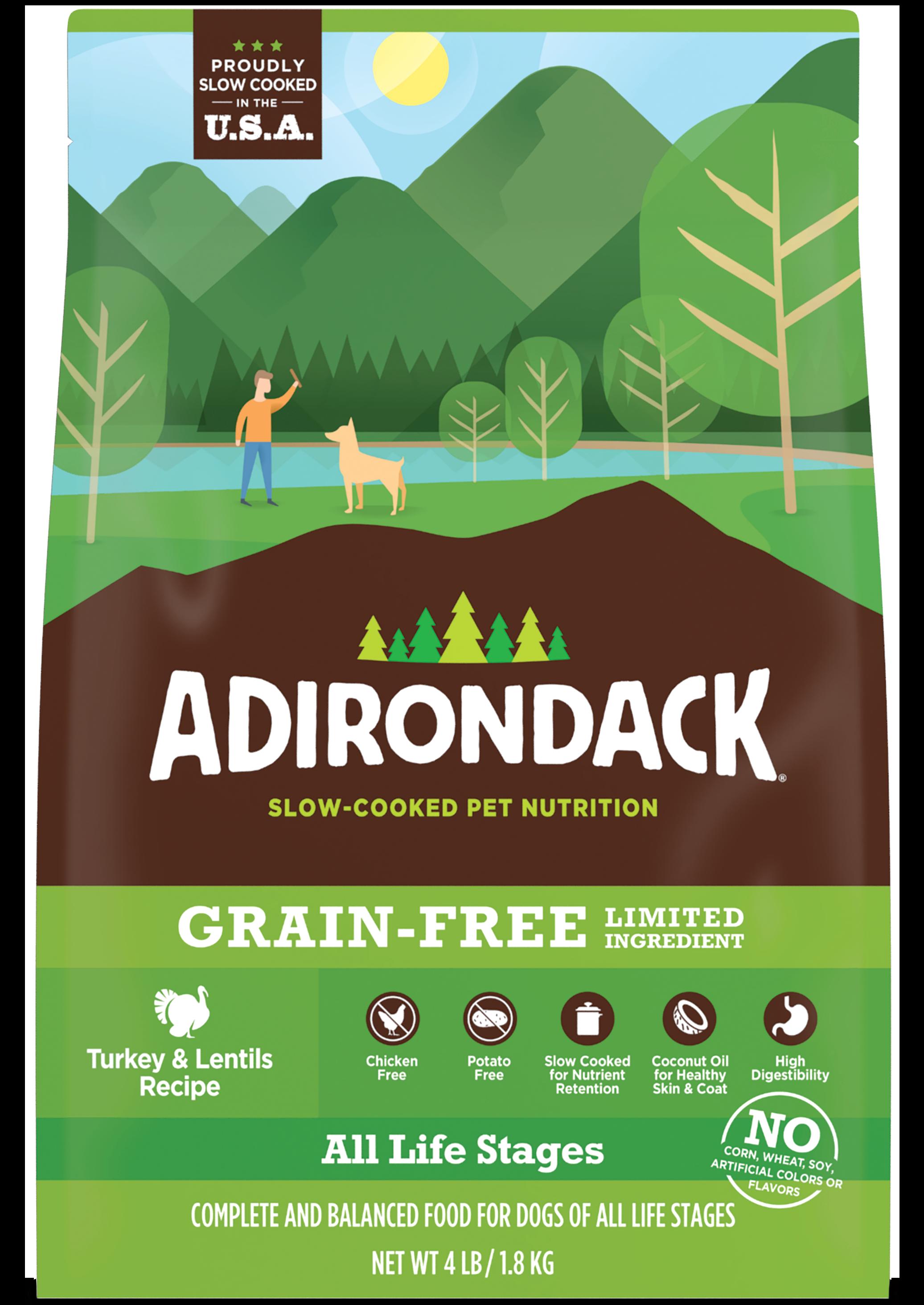 Adirondack All Life Stage Turkey & Lentils Dry Dog Recipe, 25-lb
