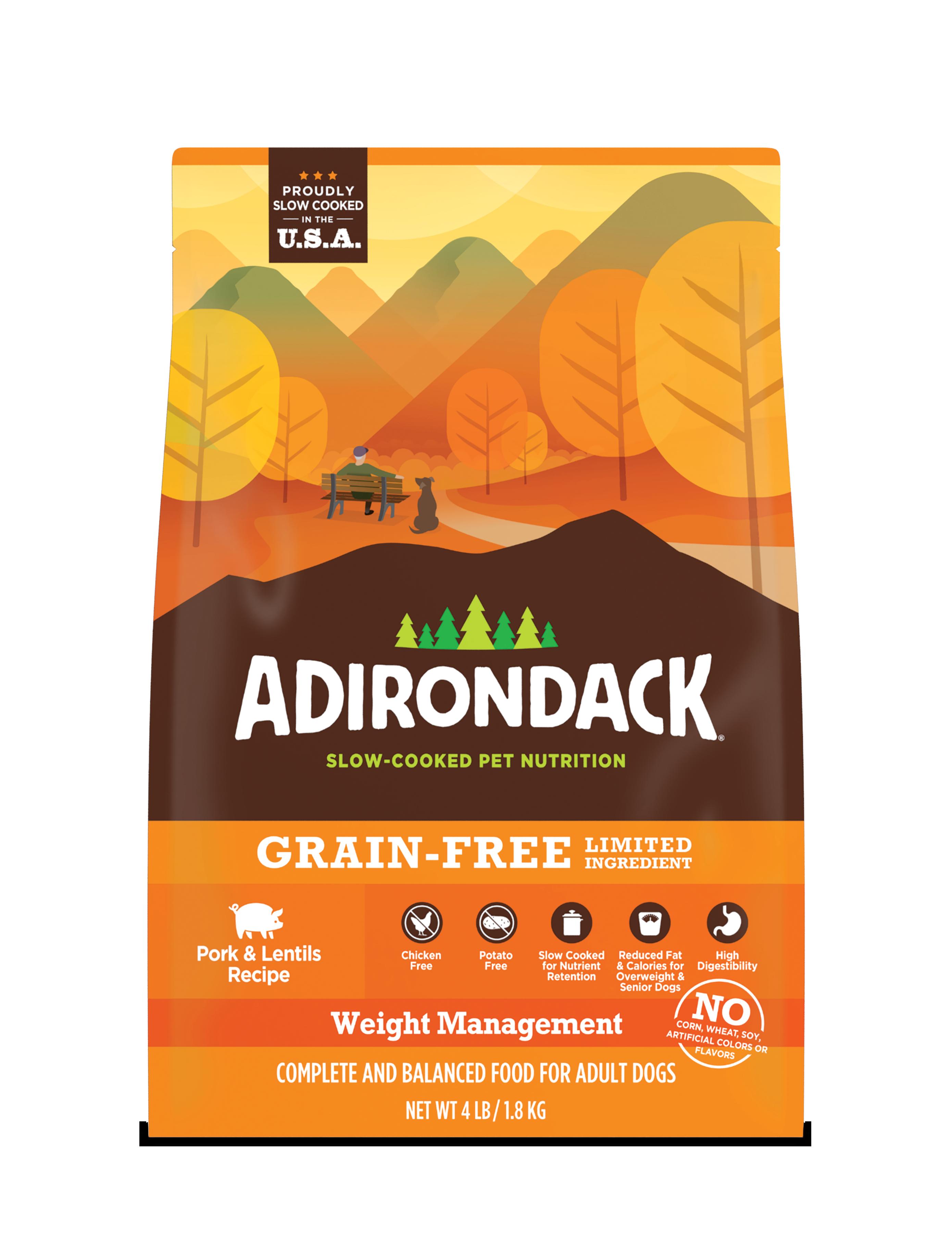 Adirondack Weight Management Pork & Lentils Dry Dog Recipe, 25-lb