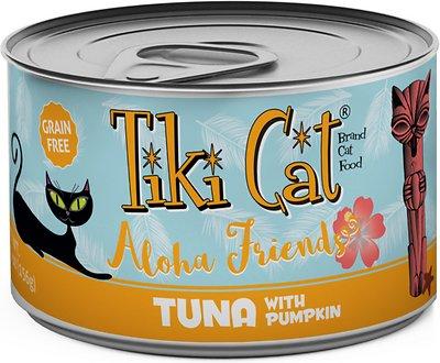 Tiki Cat Aloha Friends Tuna with Pumpkin Grain-Free Wet Cat Food, 5.5-oz can, case of 8