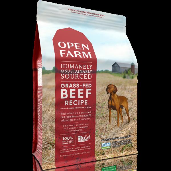 Open Farm Grass-Fed BeefRecipe Grain-Free Dry Dog Food, 4.5-lb