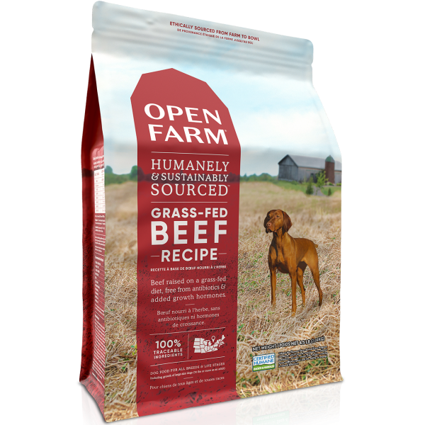 Open Farm Grass-Fed Beef Recipe Grain-Free Dry Dog Food, 24-lb