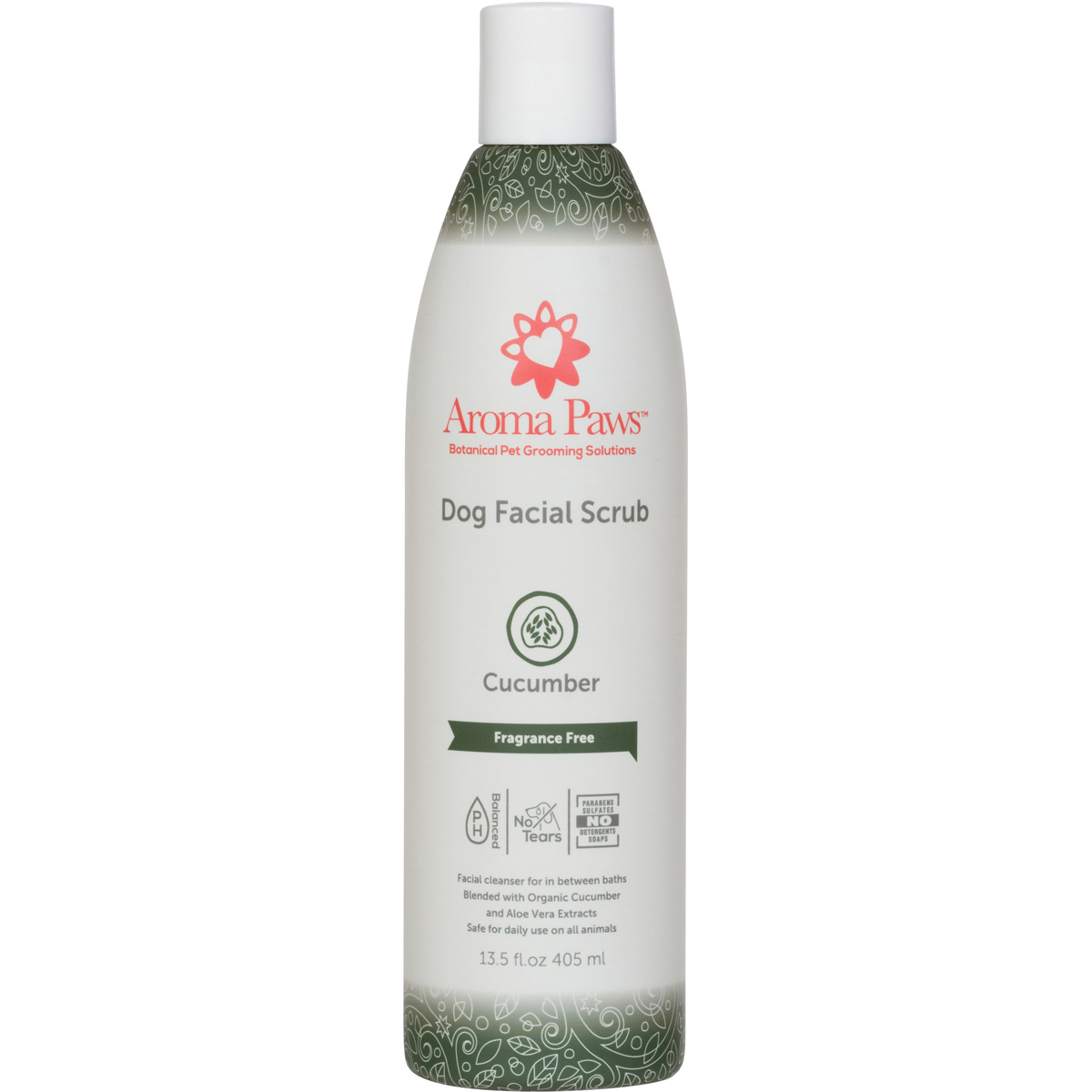 Aroma Paws Organic Cucumber & Aloe Facial Scrub, 13.5-oz