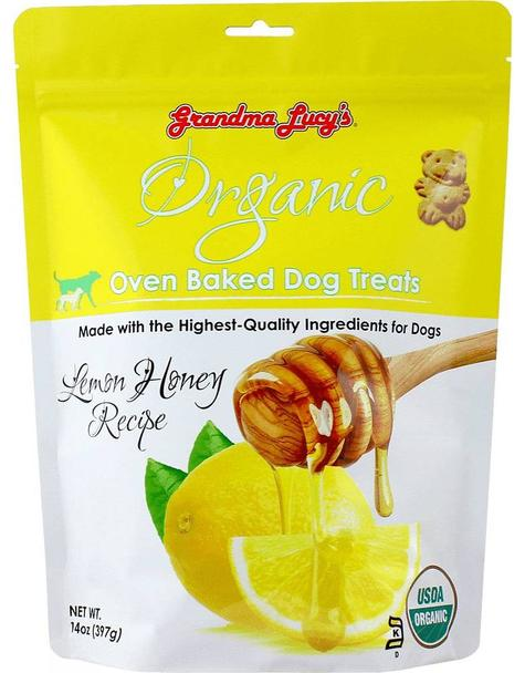 Grandma Lucy's Organic Lemon Honey Oven Baked Dog Treats, 14-oz