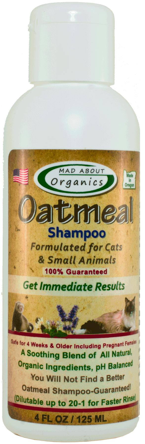 Mad About Organics Oatmeal Shampoo for Cats & Small Animals, 4-oz
