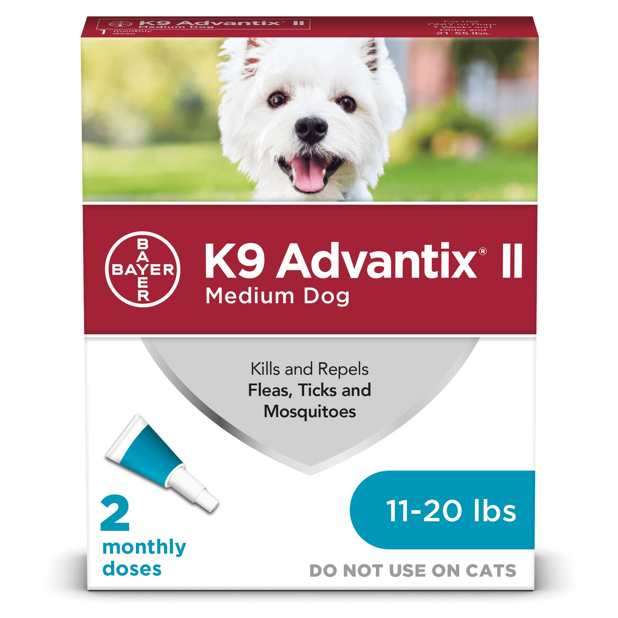 K9 Advantix II Flea & Tick Treatment for Medium Dogs 11-20-lb, 2-pack