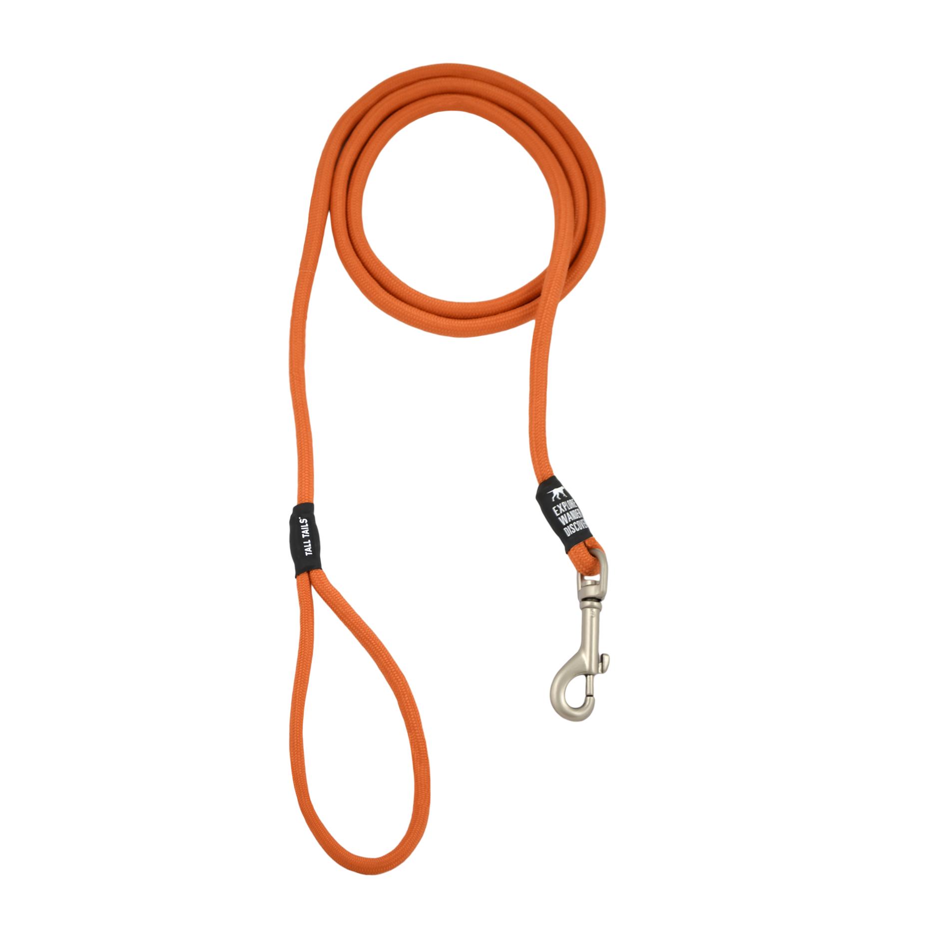 Tall Tails Rope Dog Leash, Orange, Over 50-lb