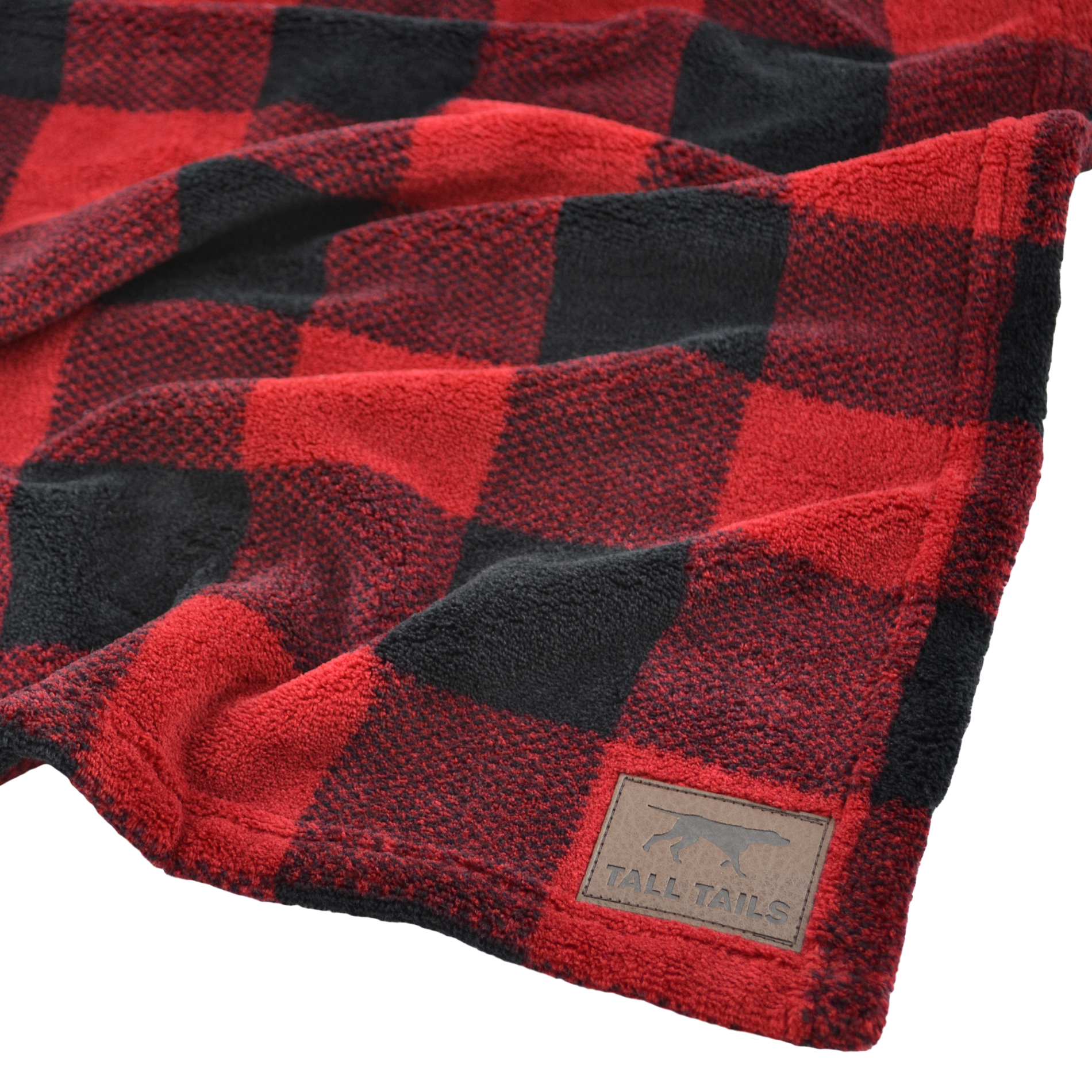 Tall Tails Dog Blanket, Hunter's Plaid, Red Image