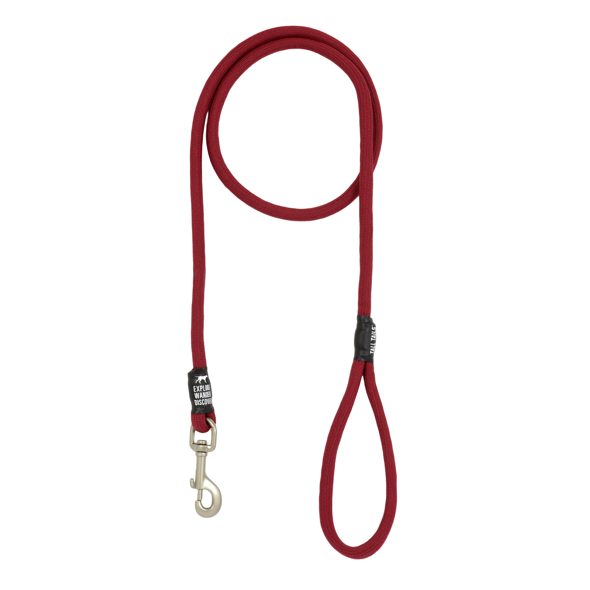 Tall Tails Dog Rope Leash, Red, Over 50-lb