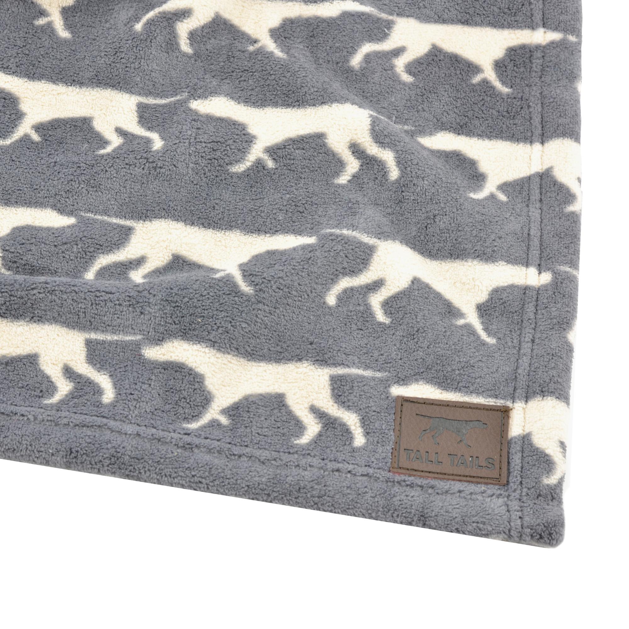 Tall Tails Grey Icon Fleece Dog Blanket, 30 x 40