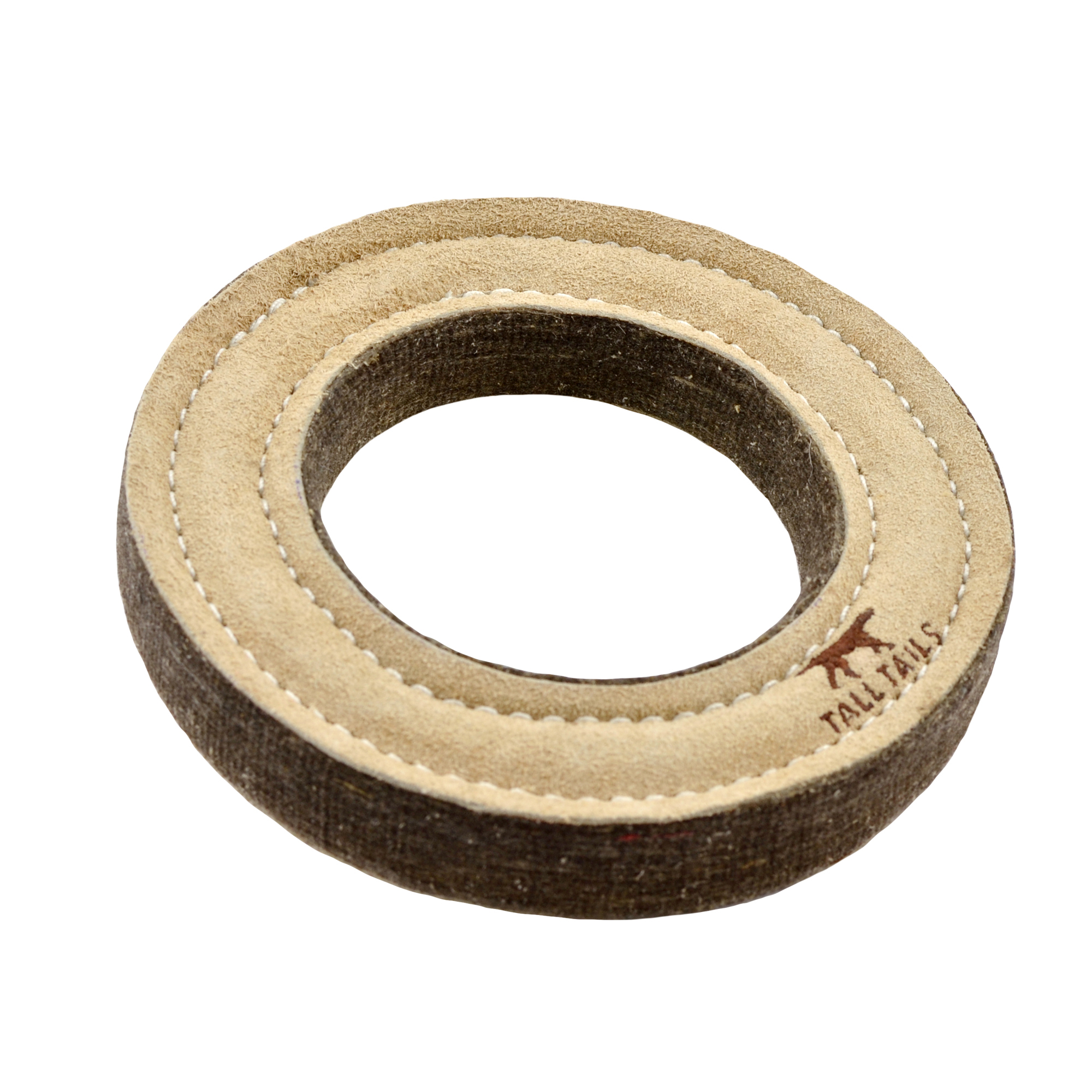 Tall Tails Natural Leather Ring Dog Toy, 7-in
