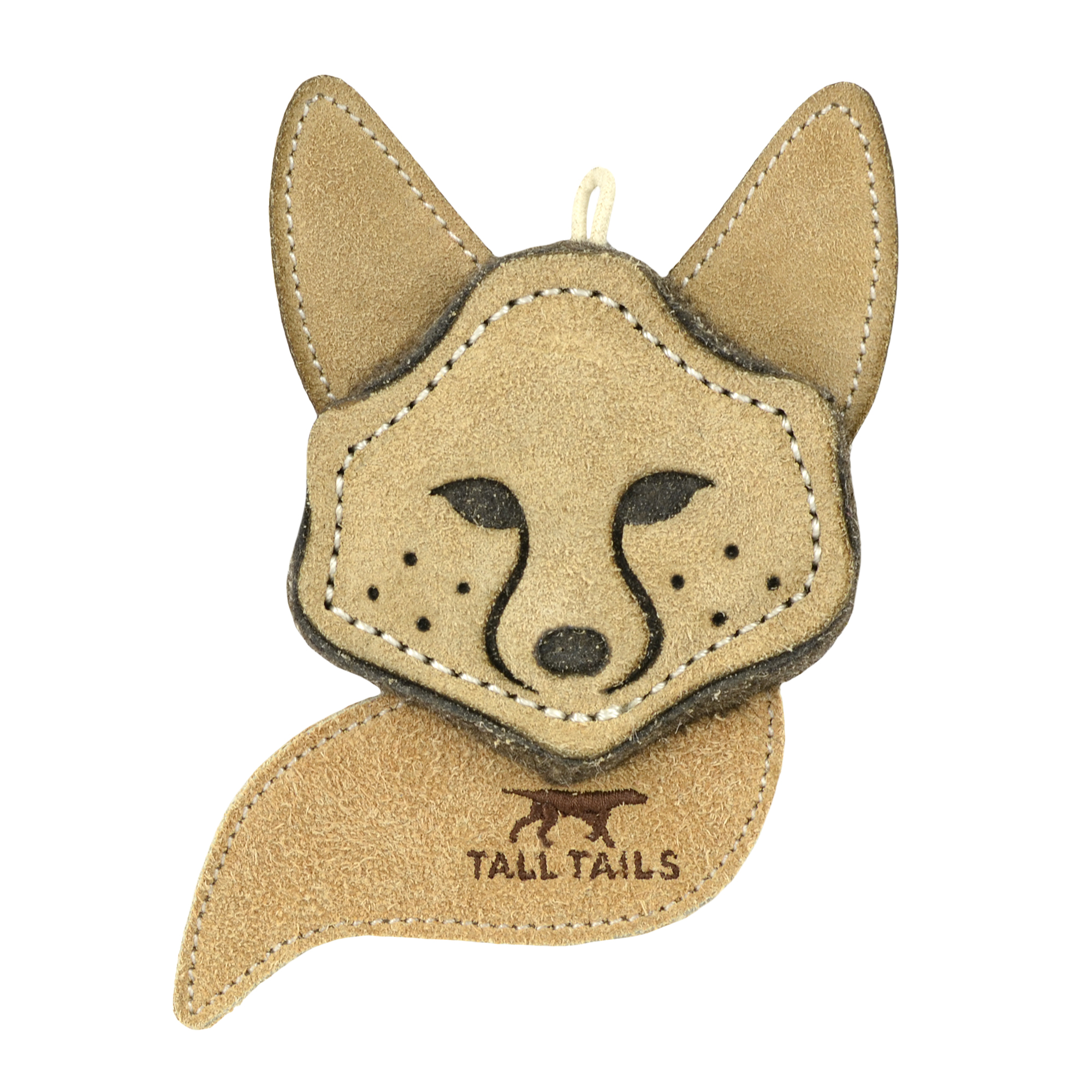 Tall Tails Natural Leather Fox Dog Toy, 4-in (Size: 4-in) Image