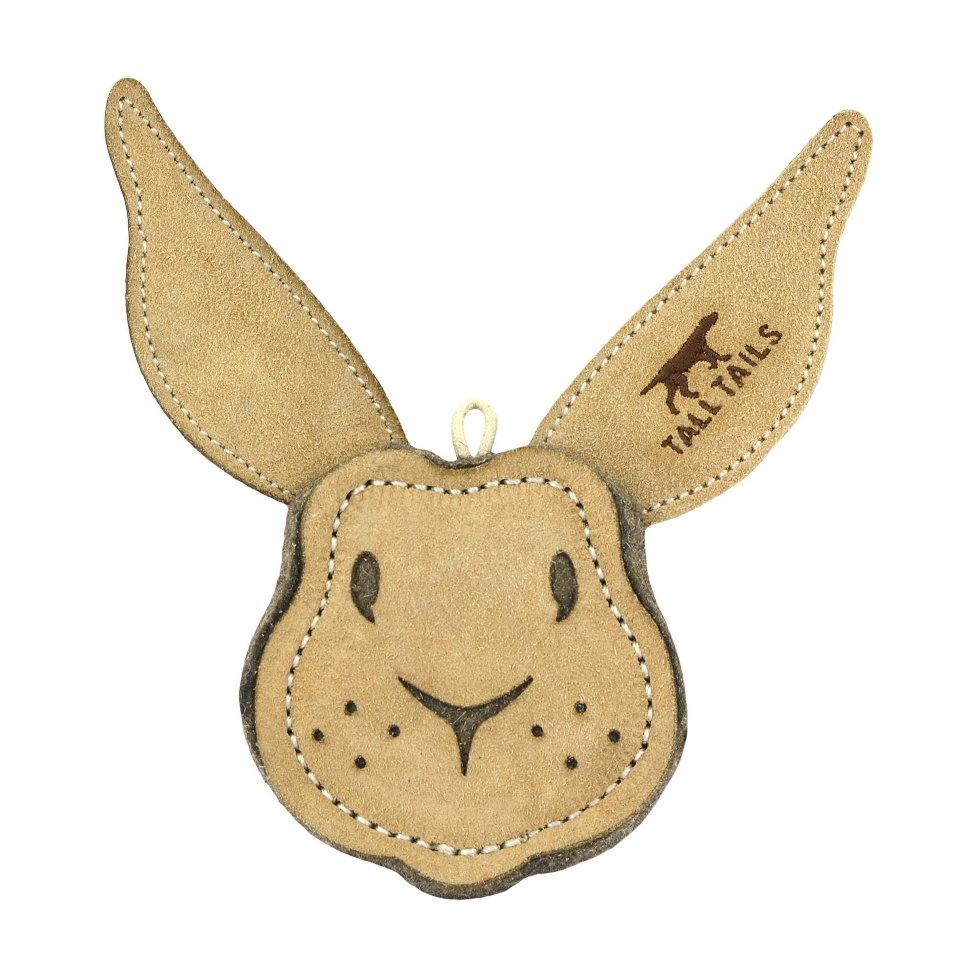 Tall Tails Natural Leather Rabbit Dog Toy, 4-in (Size: 4-in) Image