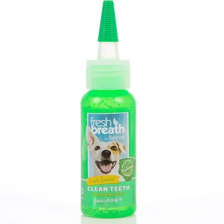 TropiClean Fresh Breath Clean Teeth Oral Care Dog Brushing Gel, 2-oz