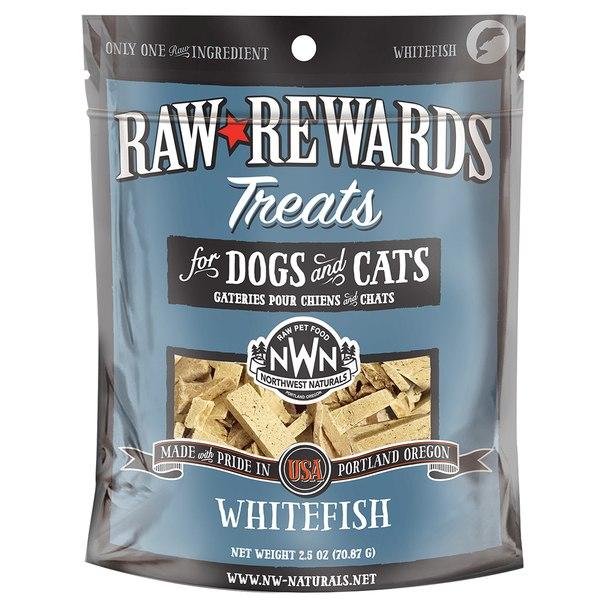 Northwest Naturals Raw Rewards Whitefish Freeze Dried Dog & Cat Treats, 2.5-oz bag