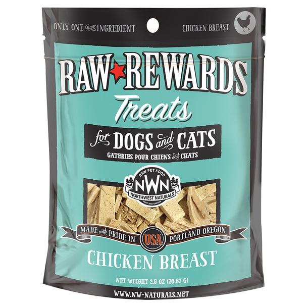 Northwest Naturals Raw Rewards Chicken Breast Freeze Dried Dog & Cat Treats, 3-oz