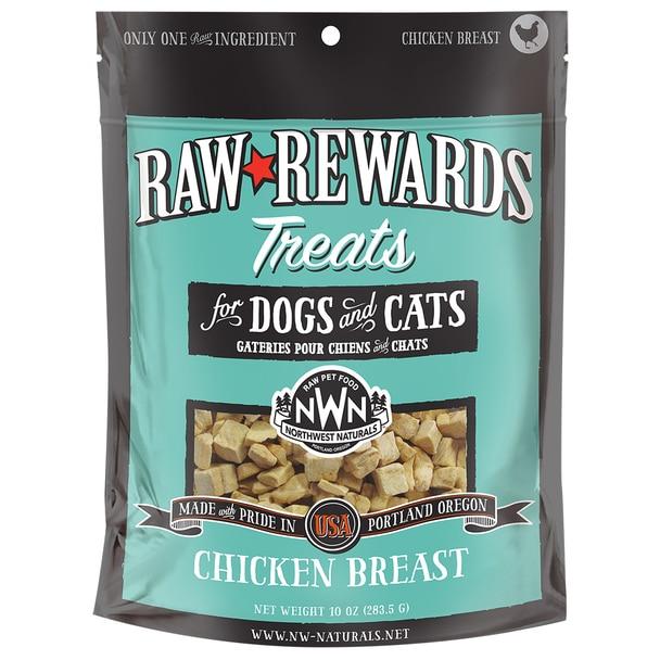 Northwest Naturals Raw Rewards Chicken Breast Freeze Dried Dog & Cat Treats, 10-oz