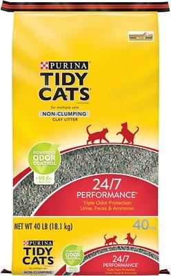 Tidy Cats Non-Clumping 24/7 Performance Long Lasting Odor Control Cat Litter, 40-lb bag