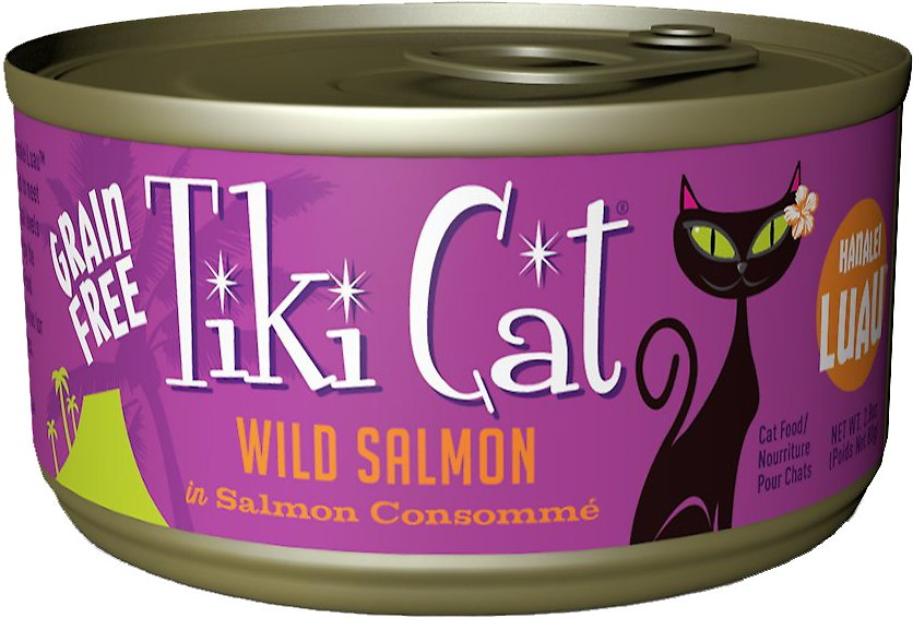 Tiki Cat Hanalei Luau Wild Salmon in Salmon Consomme Grain-Free Canned Cat Food Image