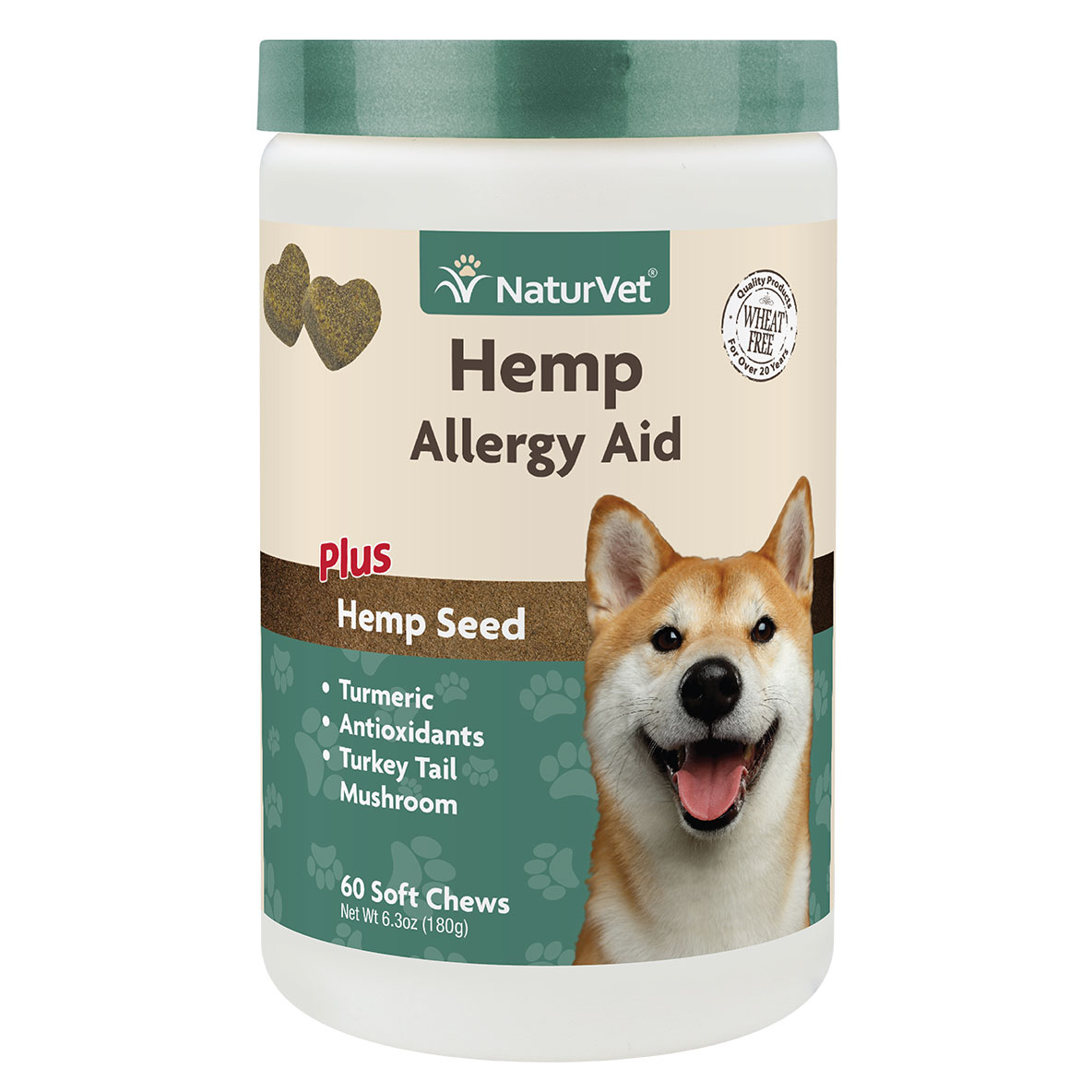Naturvet Allergy Aid Jar Soft Dog Chew, 60-ct