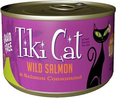 Tiki Cat Hanalei Luau Wild Salmon in Salmon Consomme Grain-Free Canned Cat Food, 6-oz, case of 8